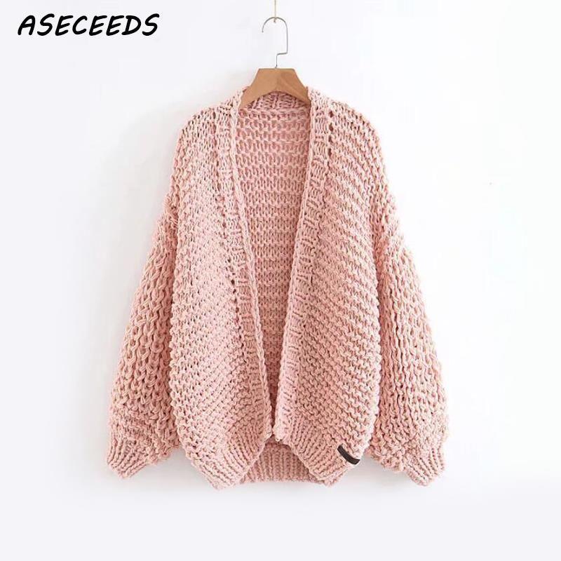 Barato Rosa casaco feminino casaco de malha cardigan sweater