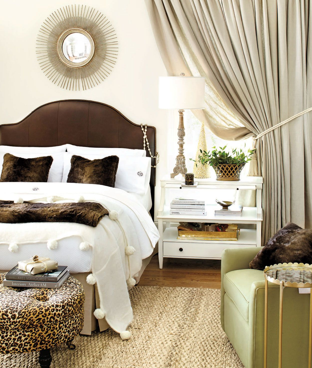 Bedroom decorating ideas Brown headboard, Home decor
