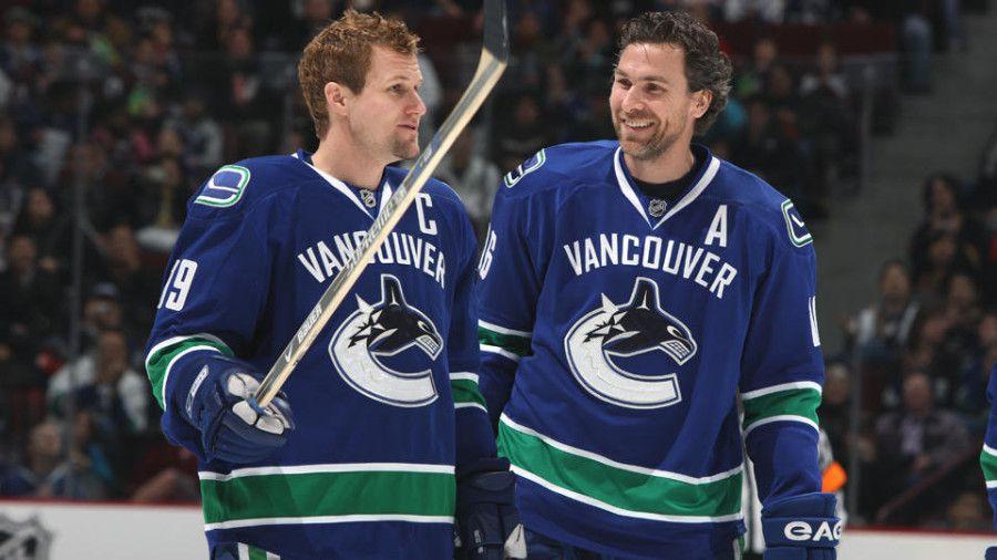 The Good Old Days Trevorlinden Marcusnaslund Canucks Vancouver Canucks Hockey