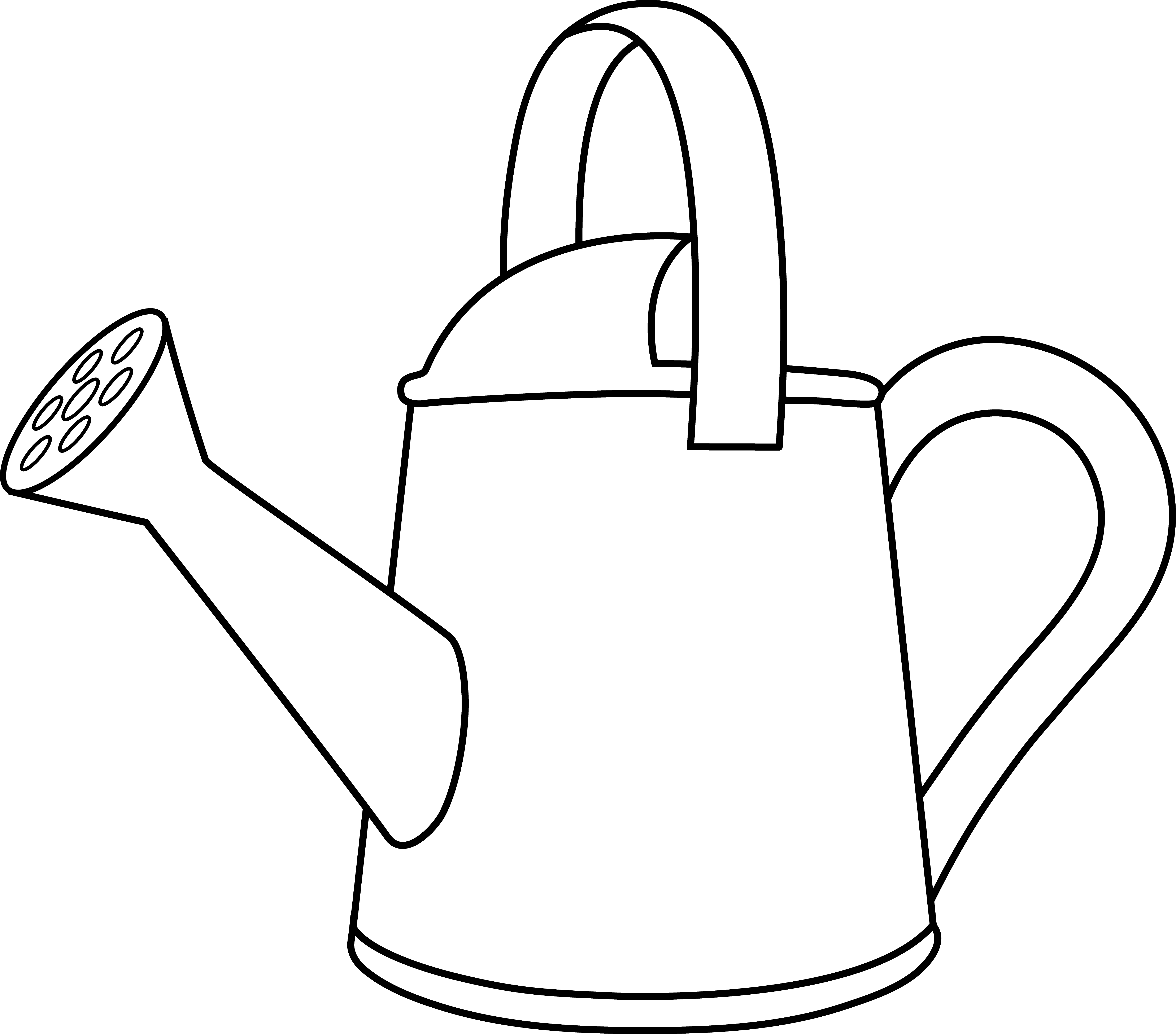 Colorable Watering Can Outline - Free Clip Art  Free clip art