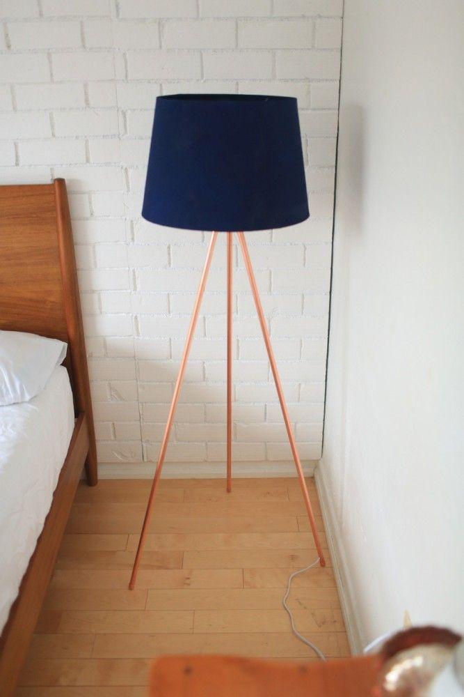 DIY COPPER TRIPOD LAMP | Tripod, Floor lamp and Room ...