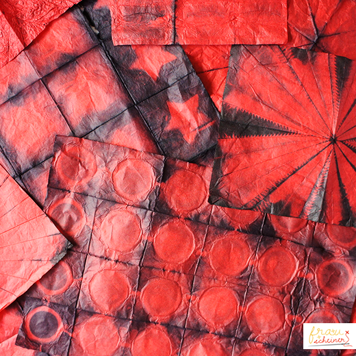 Stoff Färben shibori färben auf japanisch stoff färben färben und diy basteln