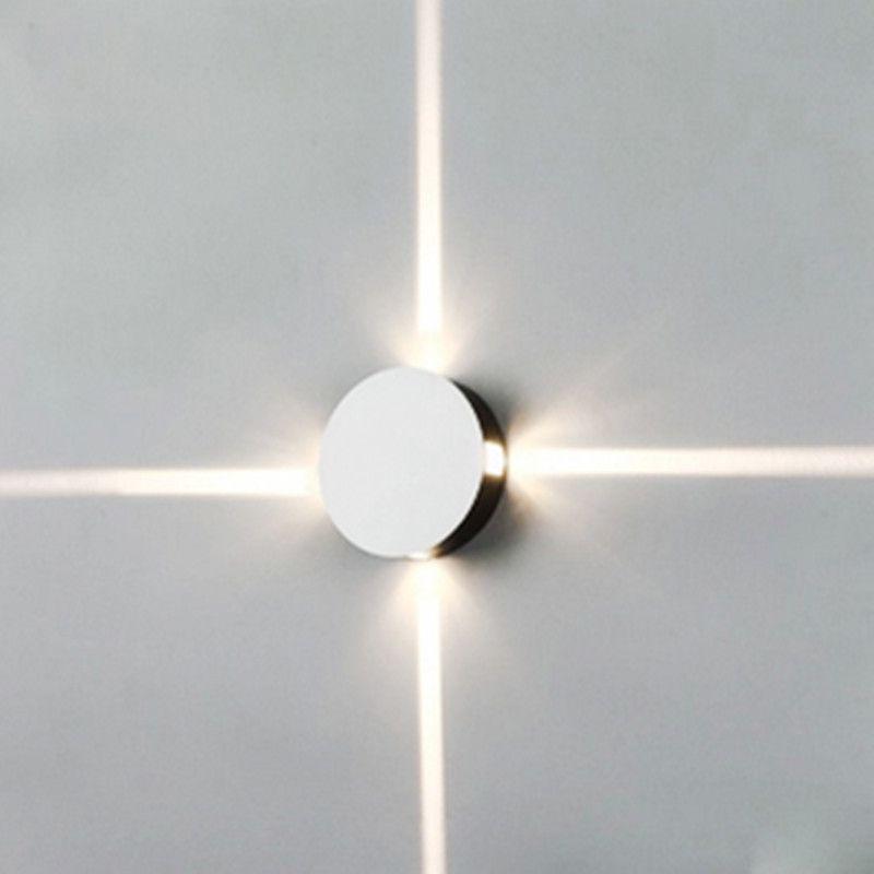 Round Led Wall Beam Effect 4 Spot Lights Narrow Shape Lighting Light TFKl1cJ