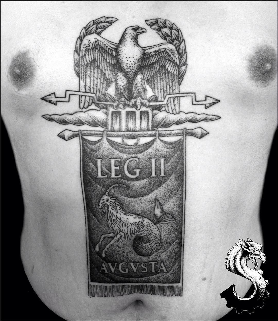 When Did The Spqr Tattoos Originate: 2nd Session #finished, On @johnnystars88 #roman #military