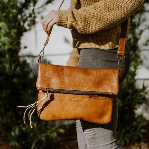 227d65fa36 Madison Leather Crossbody Foldover Clutch | Saddle Tan in 2019 ...