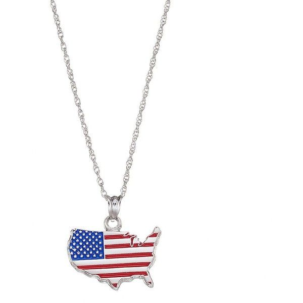 Logoart sterling silver united states american flag pendant necklace logoart sterling silver united states american flag pendant necklace 70 liked on polyvore aloadofball Choice Image