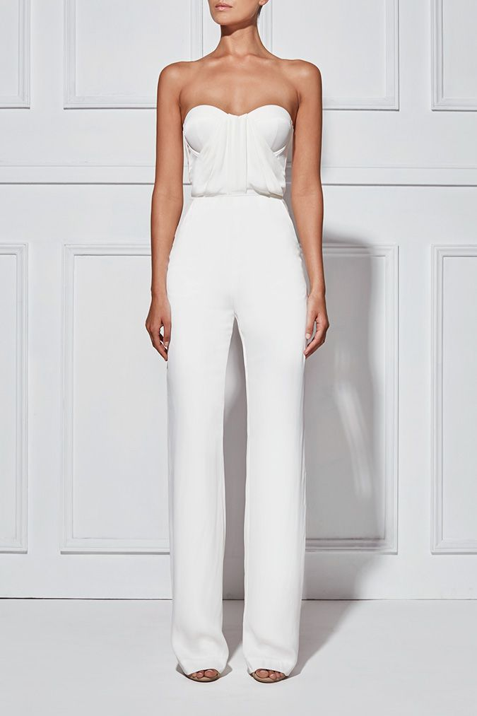 1c90eca7882b White strapless jumpsuit