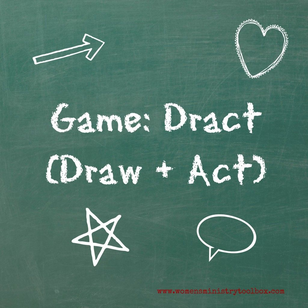 Icebreaker Game Dract (Draw + Act) Pen, paper games