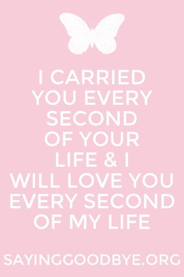 I carried you