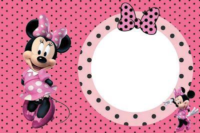 Kit Completo Minnie Rosa Com Molduras Para Convites