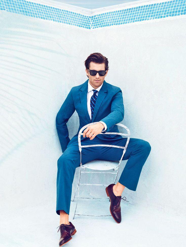 summer blues     style  suit  02b51da8db7