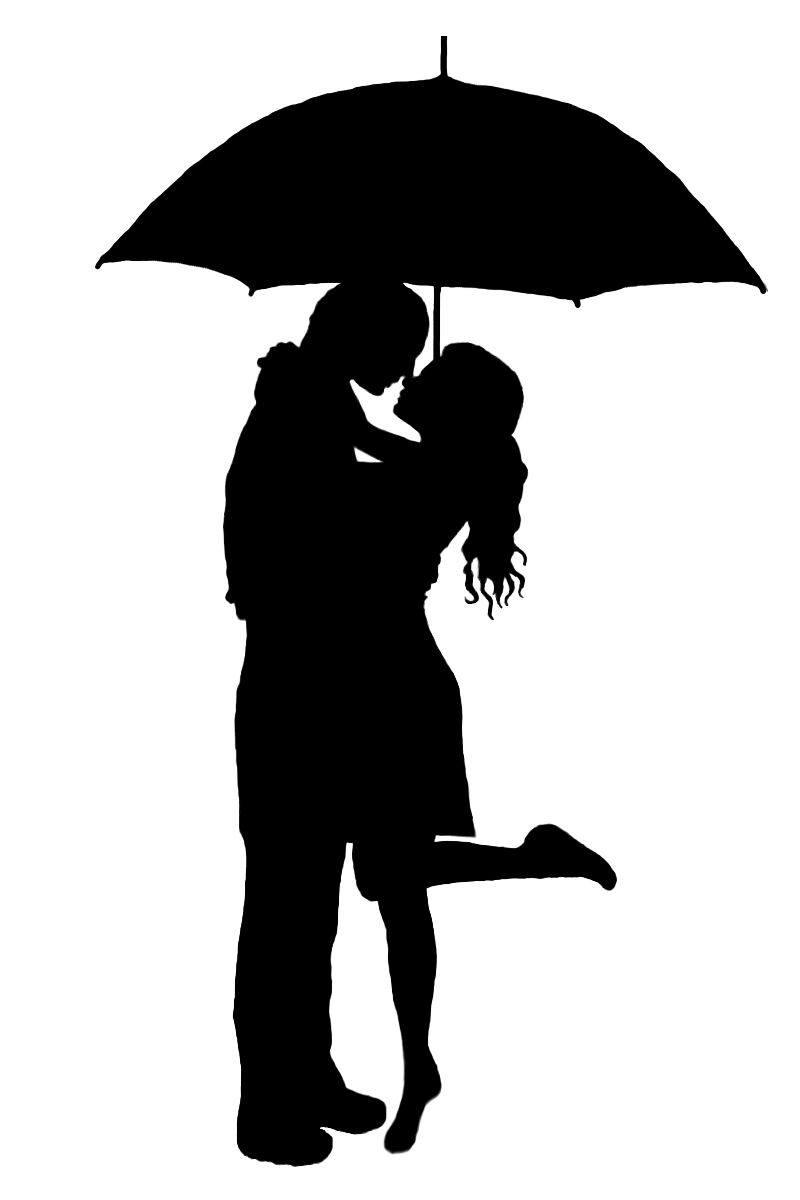 Idea for a door topper - the original clipart was a single cat ... for Couple Silhouette Umbrella Kissing  53kxo
