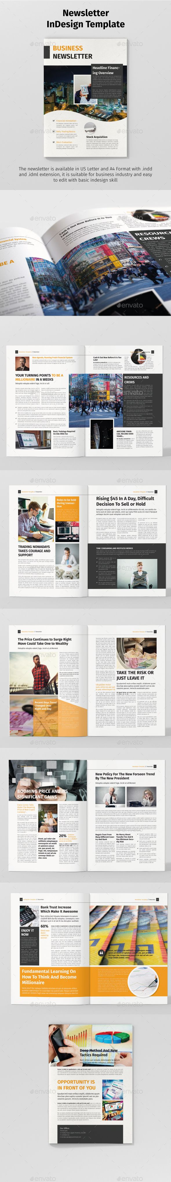 Newsletter Template 12 pages hi quality design professional and modern Magazine Layout template
