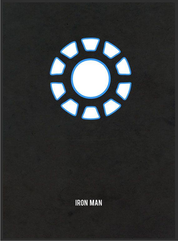 Minimalistic Iron Man Arc Reactor Canvas by AverageGamerPrints