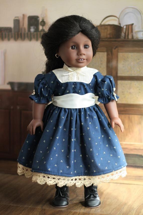 Navy Civil War Era 1800s Historical Doll Dress #historicaldollclothes