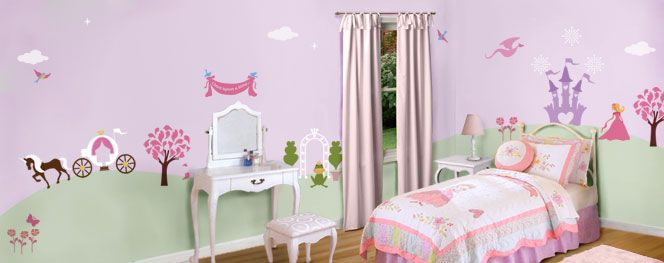 Perfectly Princess Bedroom Wall Mural Stencil Kit Baby Room