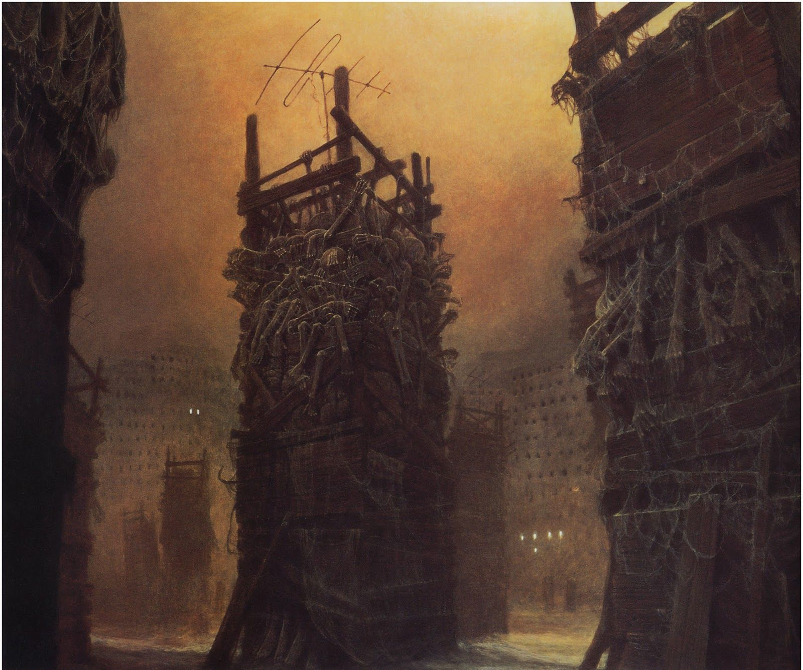 Zdzislaw Beksinski Paintings 1980