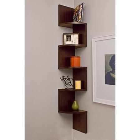 Beautiful Brand New Corner Zig Zag Wall Shelf(ups/fedex) Expedited 2 Business Day  Shipping!features  Dimensions: Inches  Made Of Mdf Laminate.