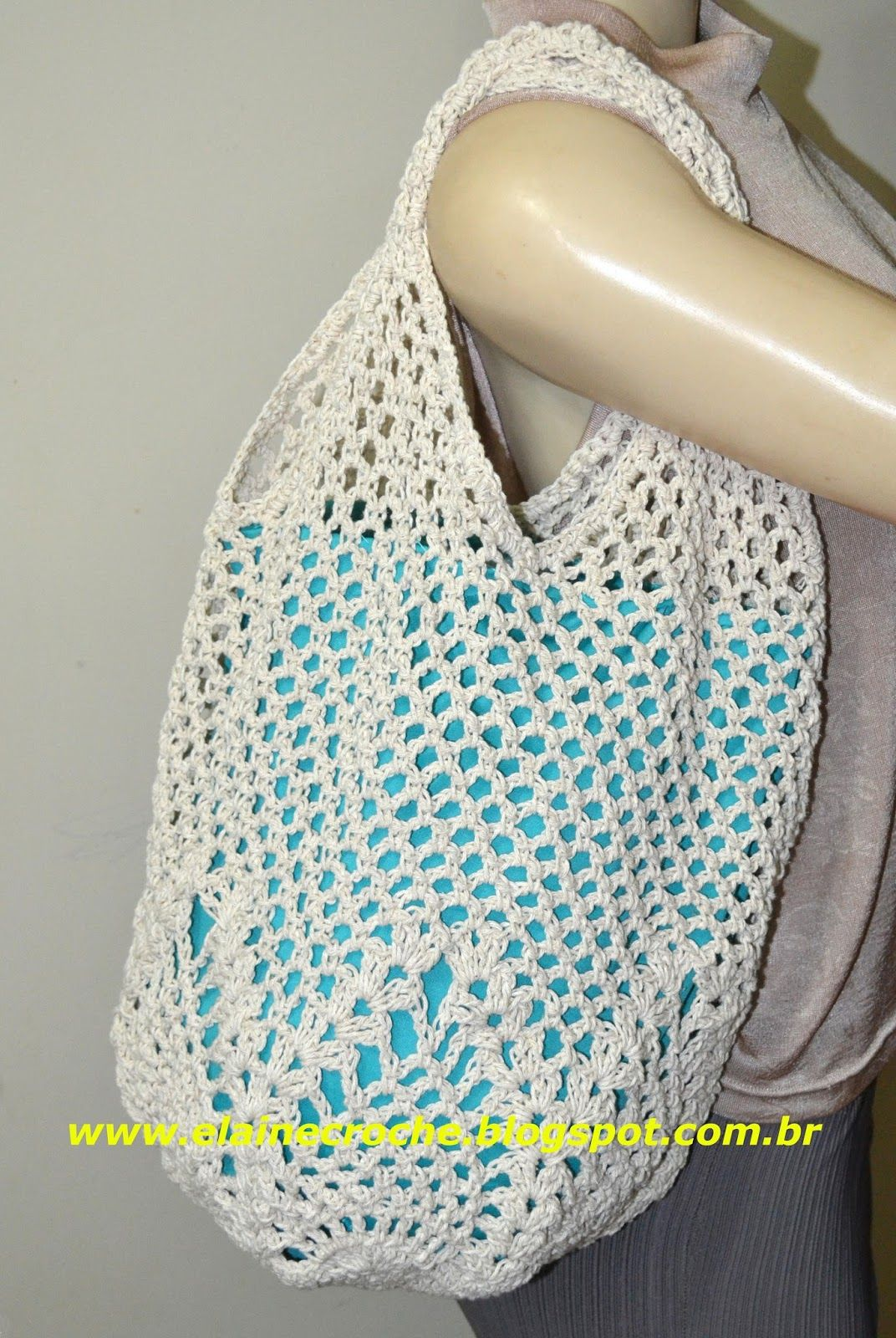 Pin de Vera Nogueira en Bolsa de crochê | Pinterest