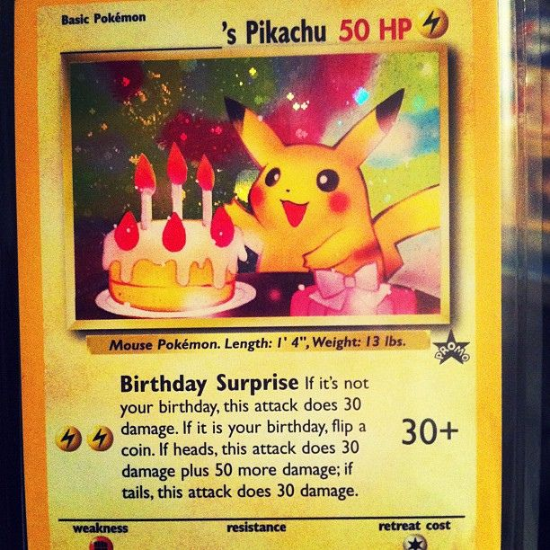 Gallery For Pikachu Birthday Card Printable – Birthday Pikachu Card