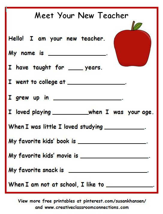 This is a great way to introduce yourself to students in the fall ...