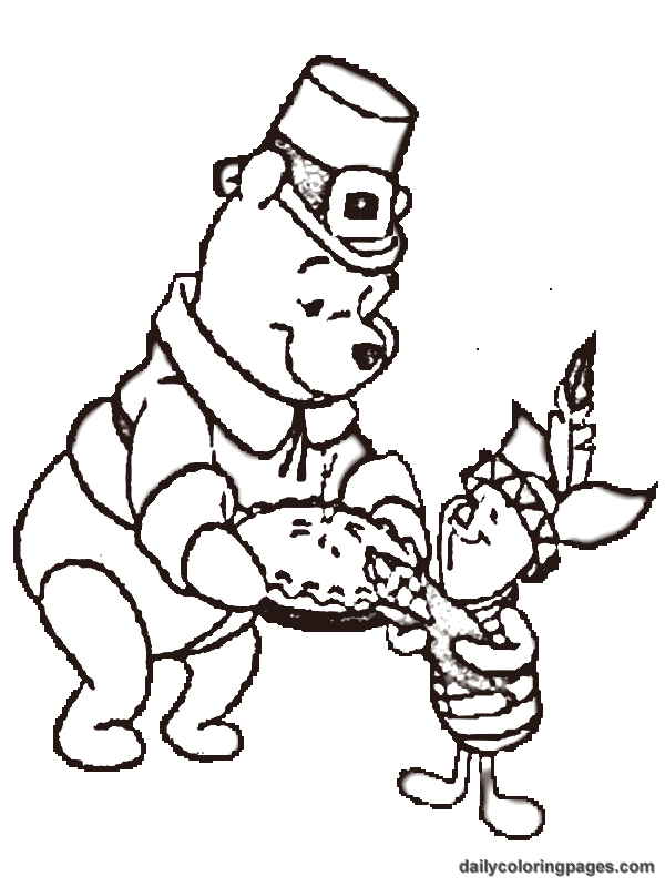 Thanksgiving Coloring Pages to Print | winnie the pooh thanksgiving ...