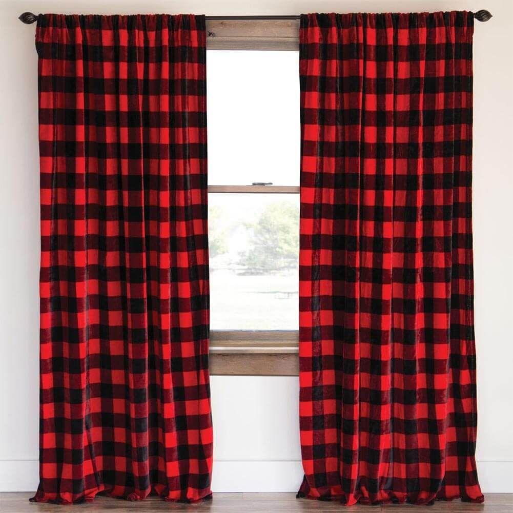 Northwoods Plaid Window Treatments Buffalo Plaid Curtains Plaid