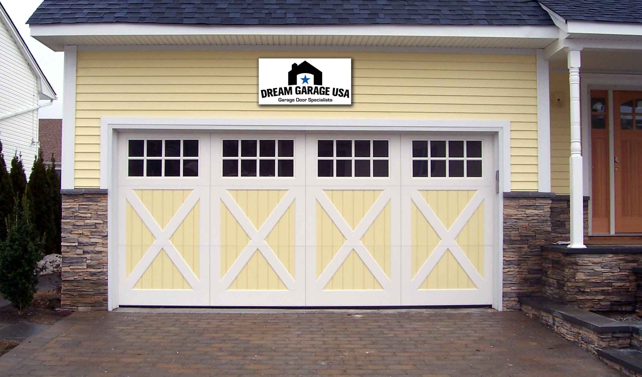 Country Yellow Garage Doors I Want To Make Mine Look Like This