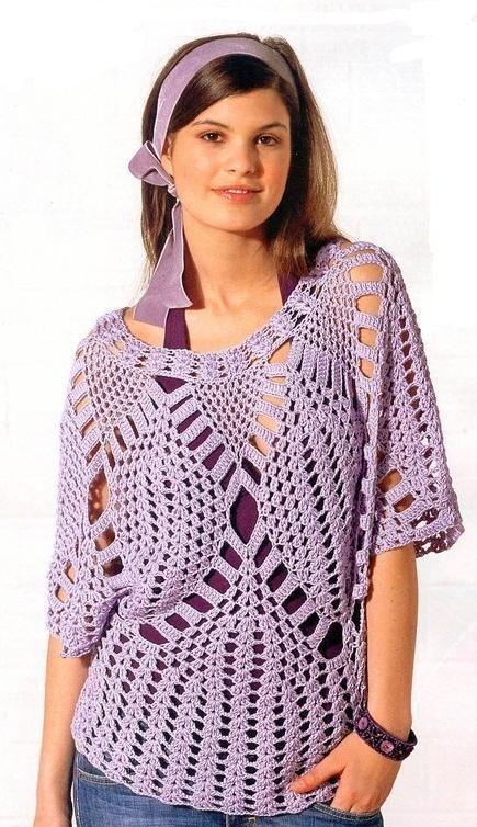 Crochet blouse | ольга | Pinterest | Crochet, Free pattern and Patterns