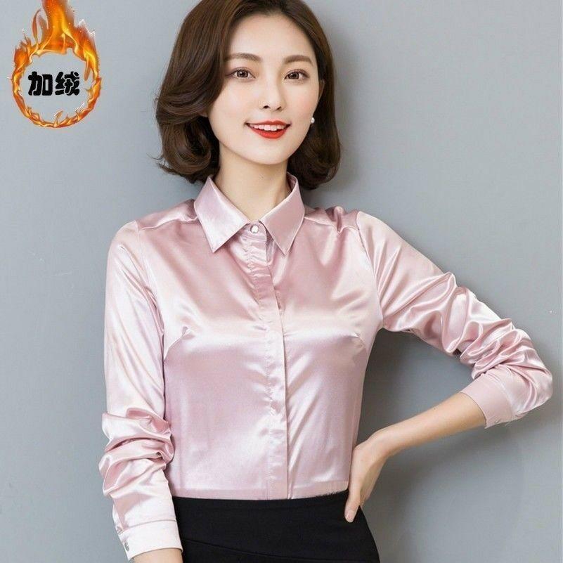 Lilysilk Women S 100 Silk Blouse Long Sleeve Lady Shirt 22 Momme Pure Charmeuse Silk Ala S Styles Silk Shirt Womens Long Sleeve Shirts Silk Blouse