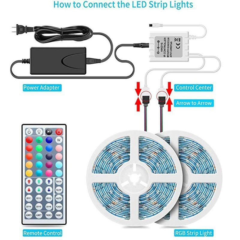 Color Changing With Remote For Home Lighting Kitchen Bed Flexible Led Monyberry In 2020 Flexible Led Strip Lights Led Strip Lighting Color Changing Rope Lights