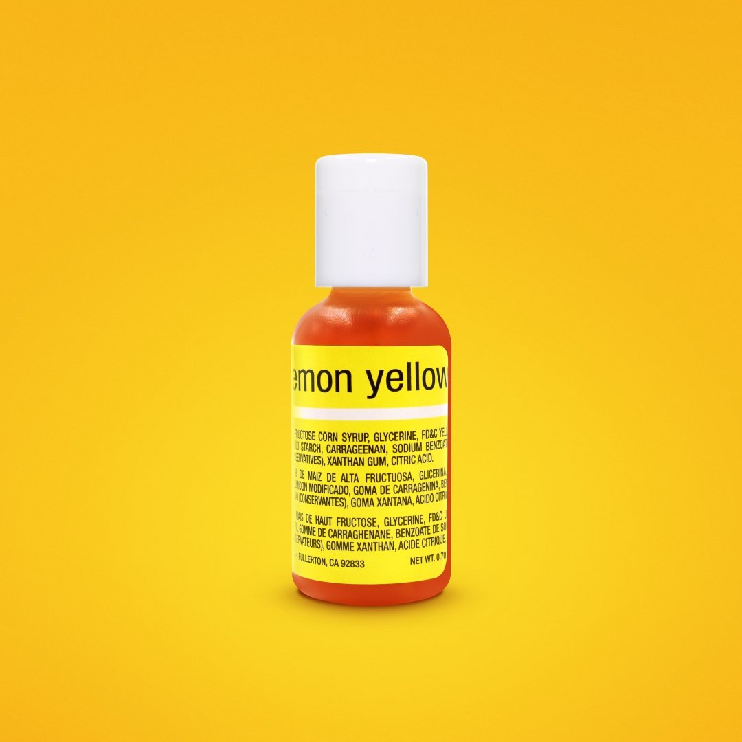 Lemon Yellow Liqua-Gel Food Coloring 20ml | Food Color on Hand | Gel ...