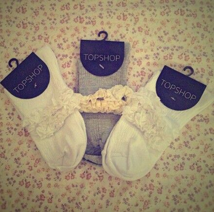 Topshop socks with frills,♥