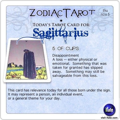 Zodiac Tarot for November 5: Sagittarius <br>  http://ifate.com