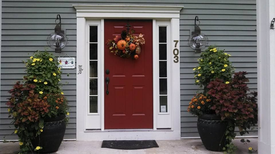 New Front Door Color Benjamin Moore Carriage Red House Color Sherwin Williams Mountain Road