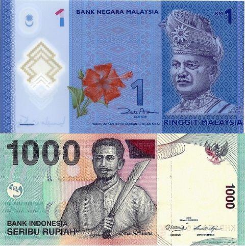 Myr Idr Malaysia Indonesia Negara