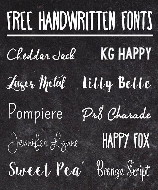 Download Favorite Free Handwritten Fonts | Handwritten fonts ...