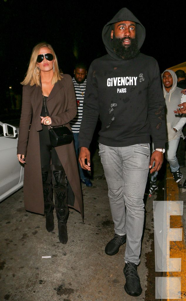 Still Together from Khloe Kardashian and James Harden Photographed for the First Time Since Lamar Odom Hospitalization  Khloe Kardashian and James Harden were photographed walking into Lure Nightclub in Hollywood, Calif., for the first time since Lamar Odom was hospitalized last month.