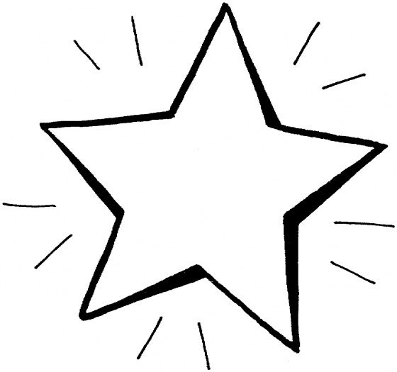 star template bright star coloring page shooting - Shooting Star Coloring Page