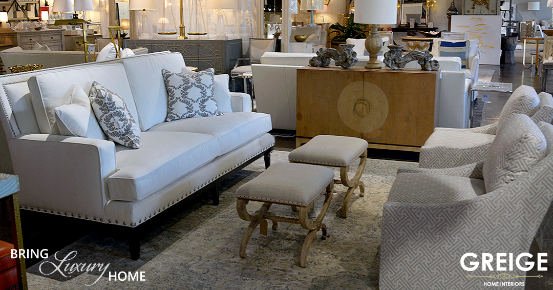 This Beautiful Harden Sofa Was $2,995 Now $2,195 Accompanied By Century  Stools That Were $429 Each