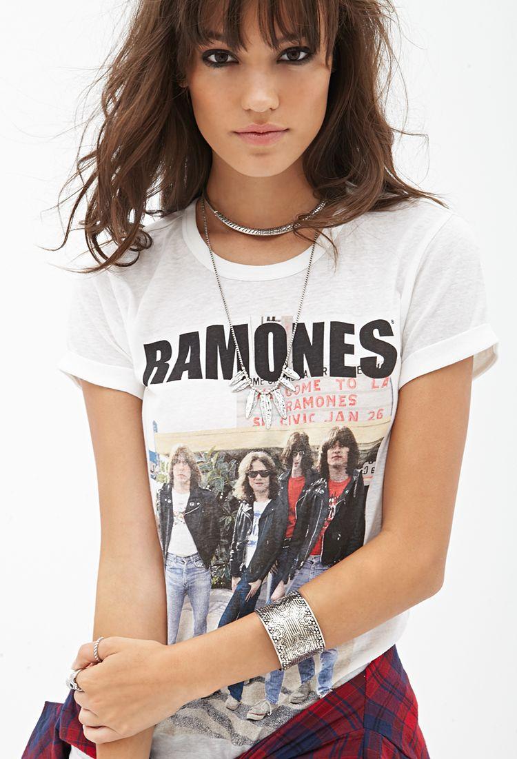 Ramones Knit Tee #SummerForever #GraphicTee