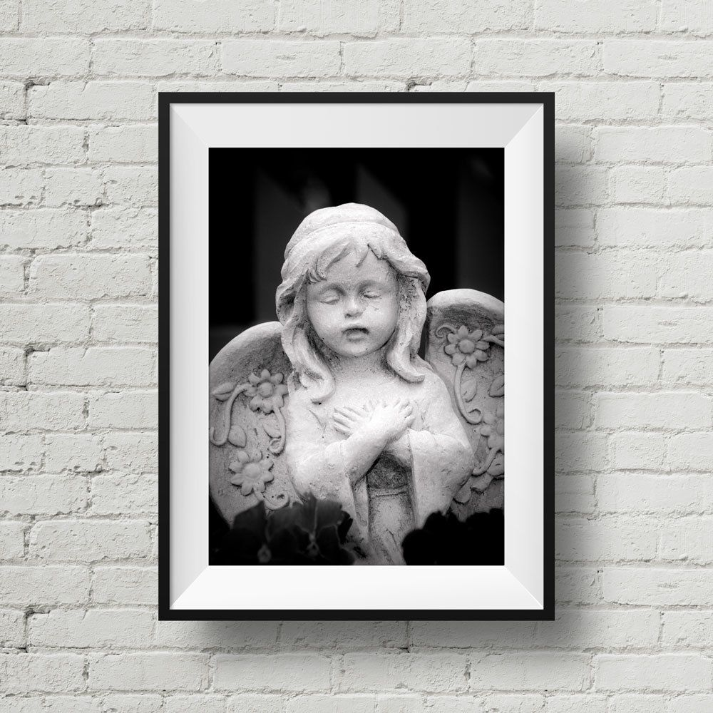 Angel statue photo black and white photography tennessee fine art