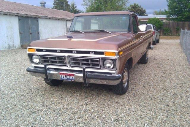Brown Ford Trucks Ford 1977 Ford F150 Brown 2wd Regular Cab
