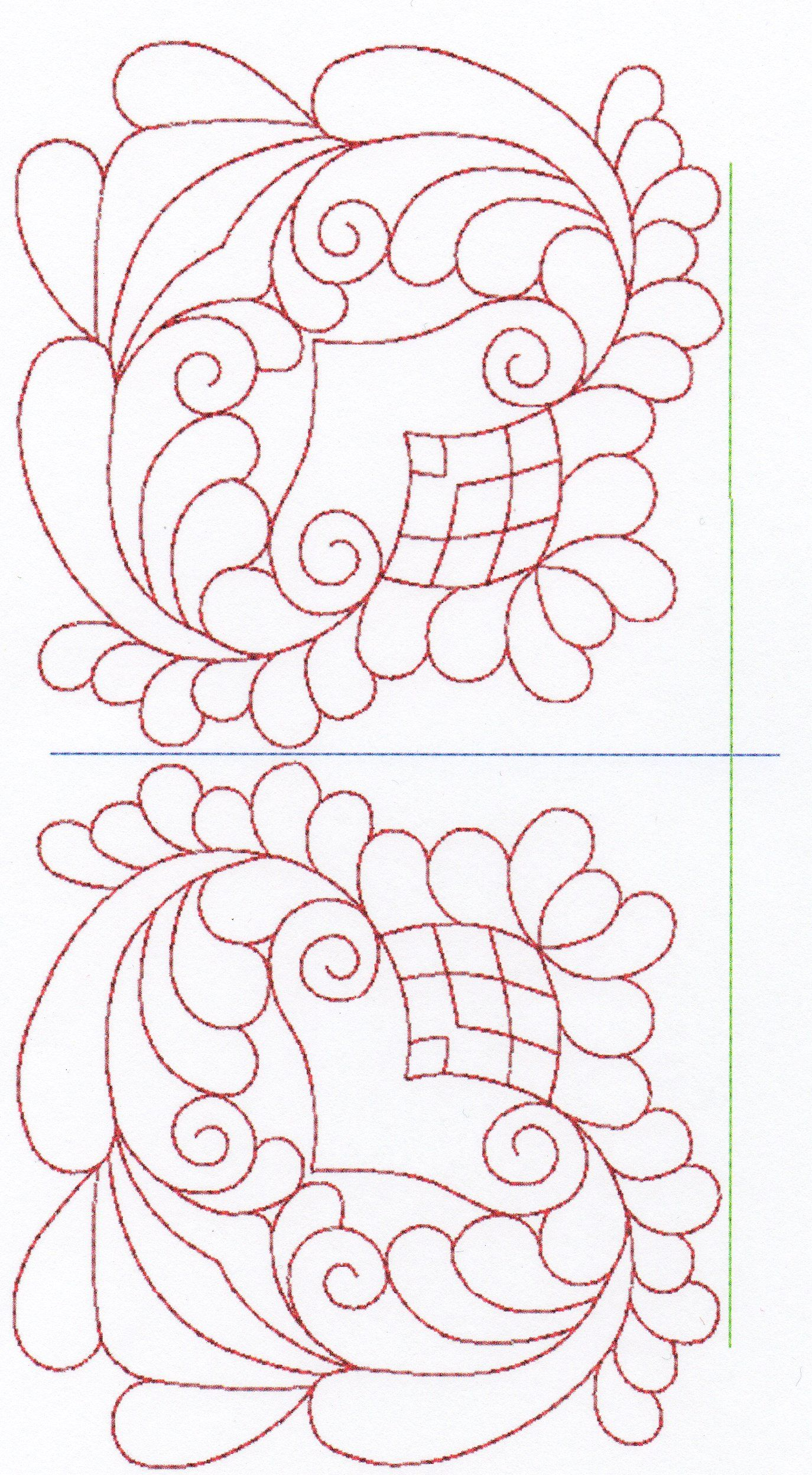 Free Hand Quilting Patterns | stitches. The large designs are ...
