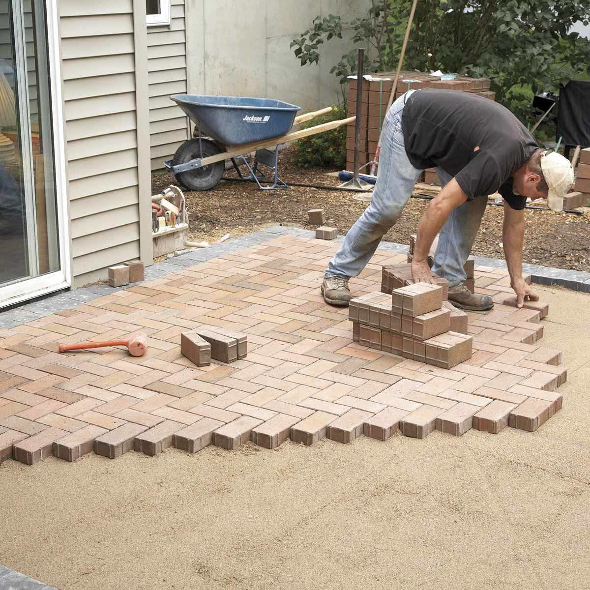 How To Cover A Concrete Patio With Pavers Concrete Patio Pavers Over Concrete Brick Decor