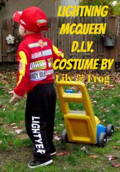 DIY McQueen Costume (4) (448x640) & Lightning McQueen Halloween Costume | McQueen Costumes and ...