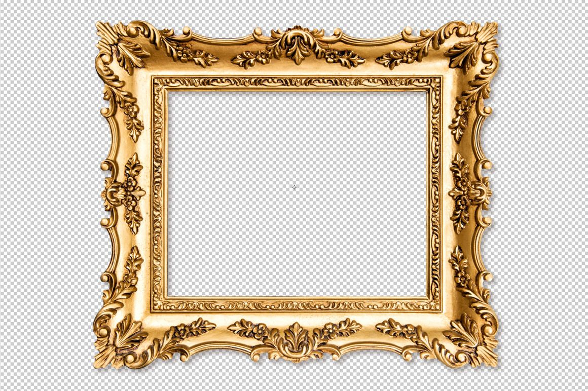 Baroque golden picture frame PNG Picture frames, Baroque