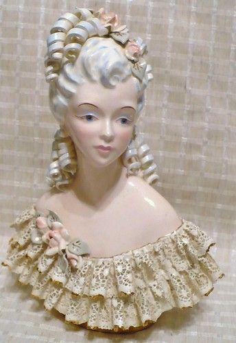 "RARE Florence Ceramics Figurine Bust of Elegant Woman with Curle La Petite 8 5"" | eBay"