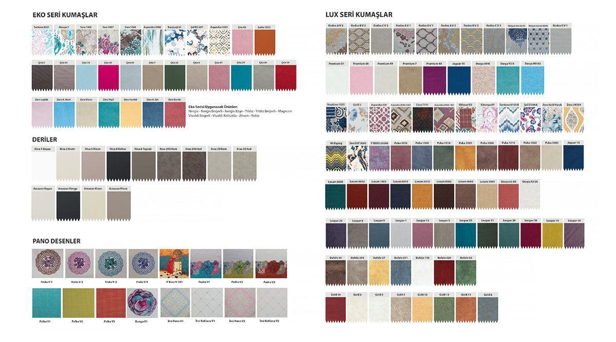 Renk Kartelasi Renkler Mobilya Koltuklar