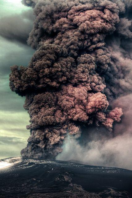 Volcanic eruption, Iceland
